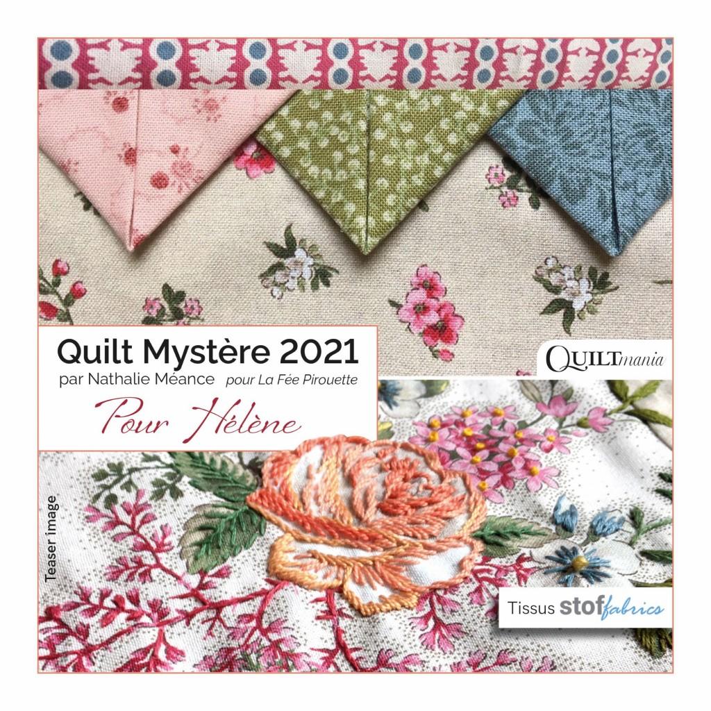 patchwork et broderie pour ce quilt mystère