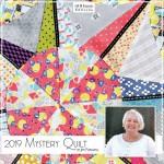 le nouveau quilt Mystère 2019 de quilt mania, distribué par Bouts de tissus